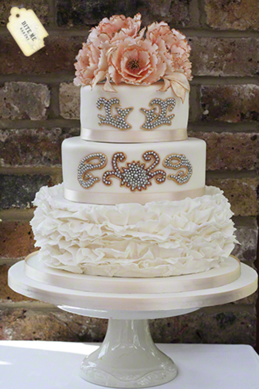 Indian Asian Fusion Wedding Dress Inspired Cake