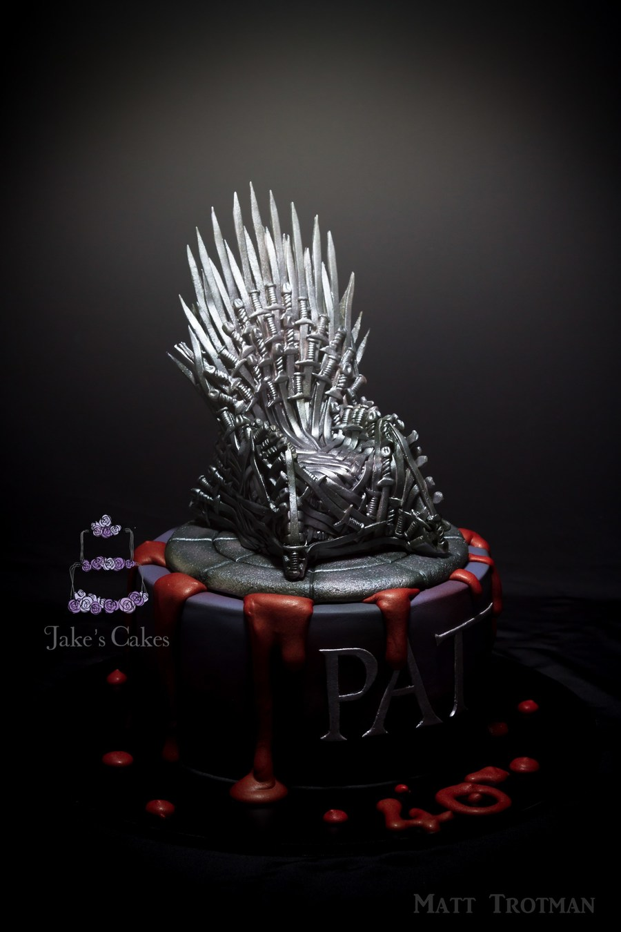 My Most Popularly Viewed Cake Thus Far Iron Throne Handmade By Me From 172 Sugar Swords Gotta Love A Bit Of Game Of Thrones on Cake Central