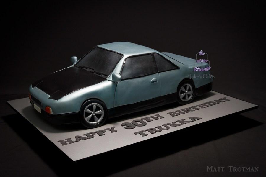 Nissan Silvia Car Cake Made To Represent The Birthday Boys Own Car