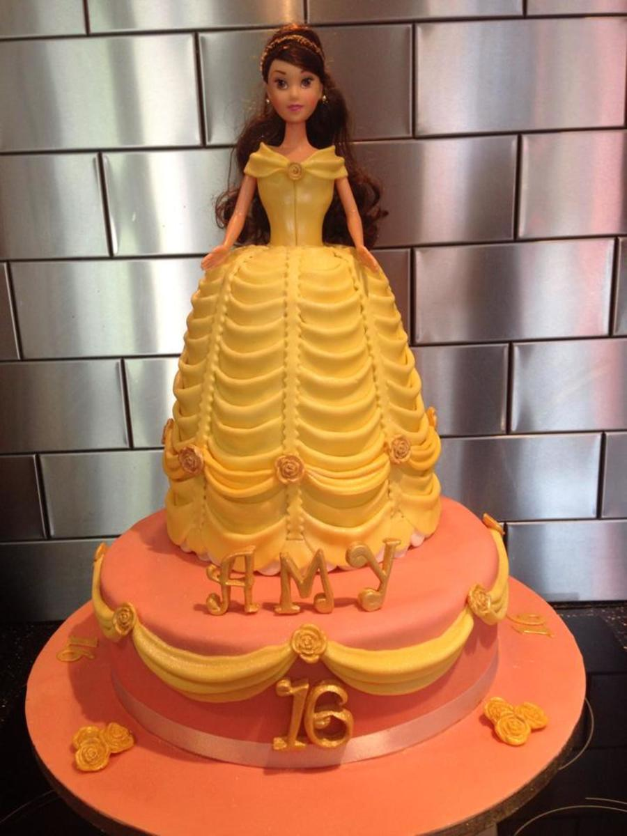 Princess Belle Cake Beauty And The Beast Cakecentral Com