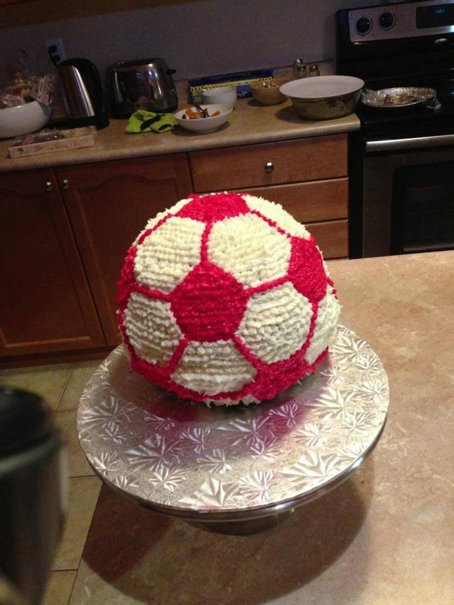 First Soccerball Cake  on Cake Central