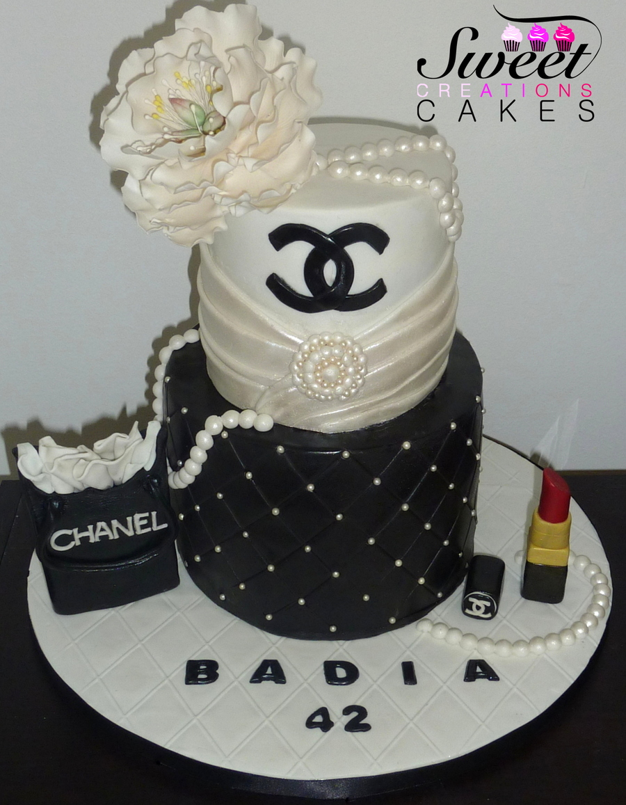 Chanel Couture Cake - CakeCentral.com
