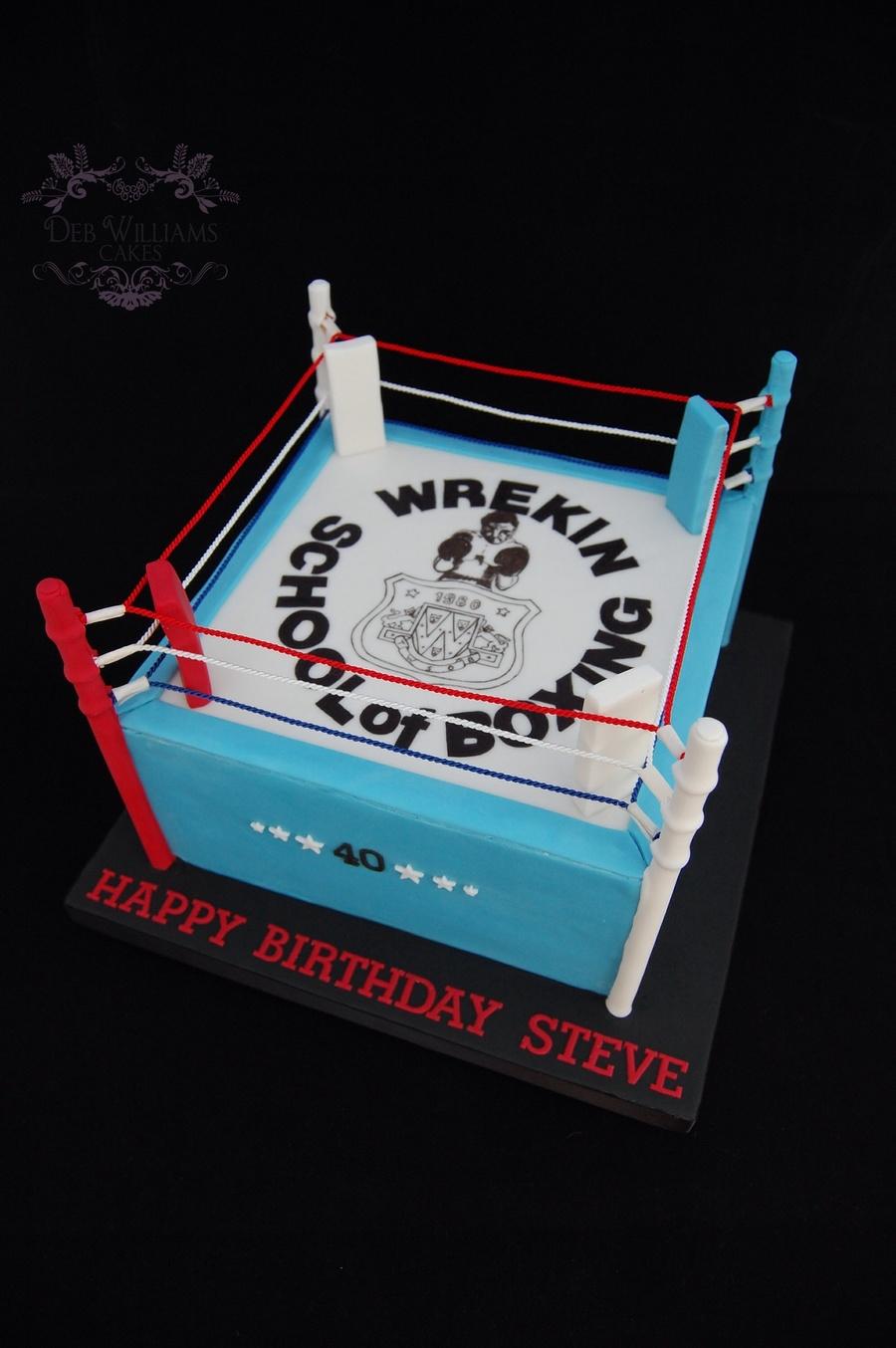 How To Make Boxing Ring Cake