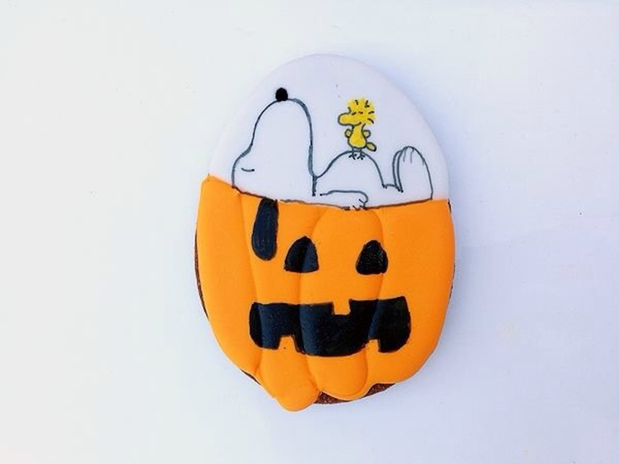 Its The Great Pumpkin Charlie Brown Snoopy Woodstock And Pumpkin Face Are Handpainted With A Combination Of Edible Markers And Food Co on Cake Central