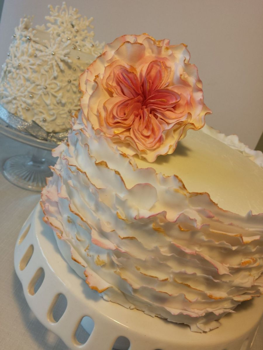 Chai Spice Flavour Cake With Fondant Ruffles For My Daughters 20Th Birthday on Cake Central