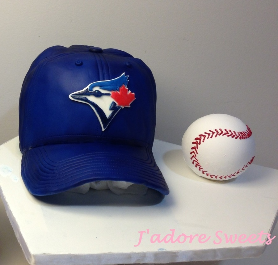 Chocolate Baseball Cap: 3D Toronto Blue Jays Baseball Hat Cake And 3D Chocolate