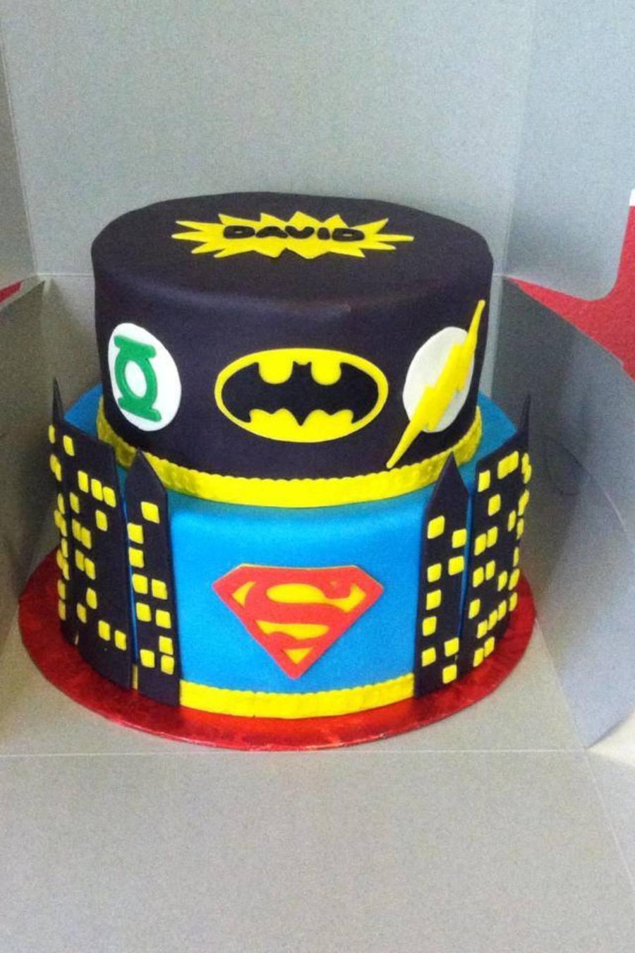 Marvelous Justice League Super Hero Birthday Cake Cakecentral Com Funny Birthday Cards Online Kookostrdamsfinfo