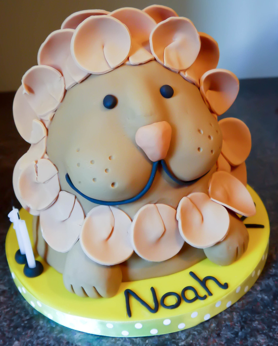 Remarkable Lion Birthday Cake Cakecentral Com Funny Birthday Cards Online Overcheapnameinfo