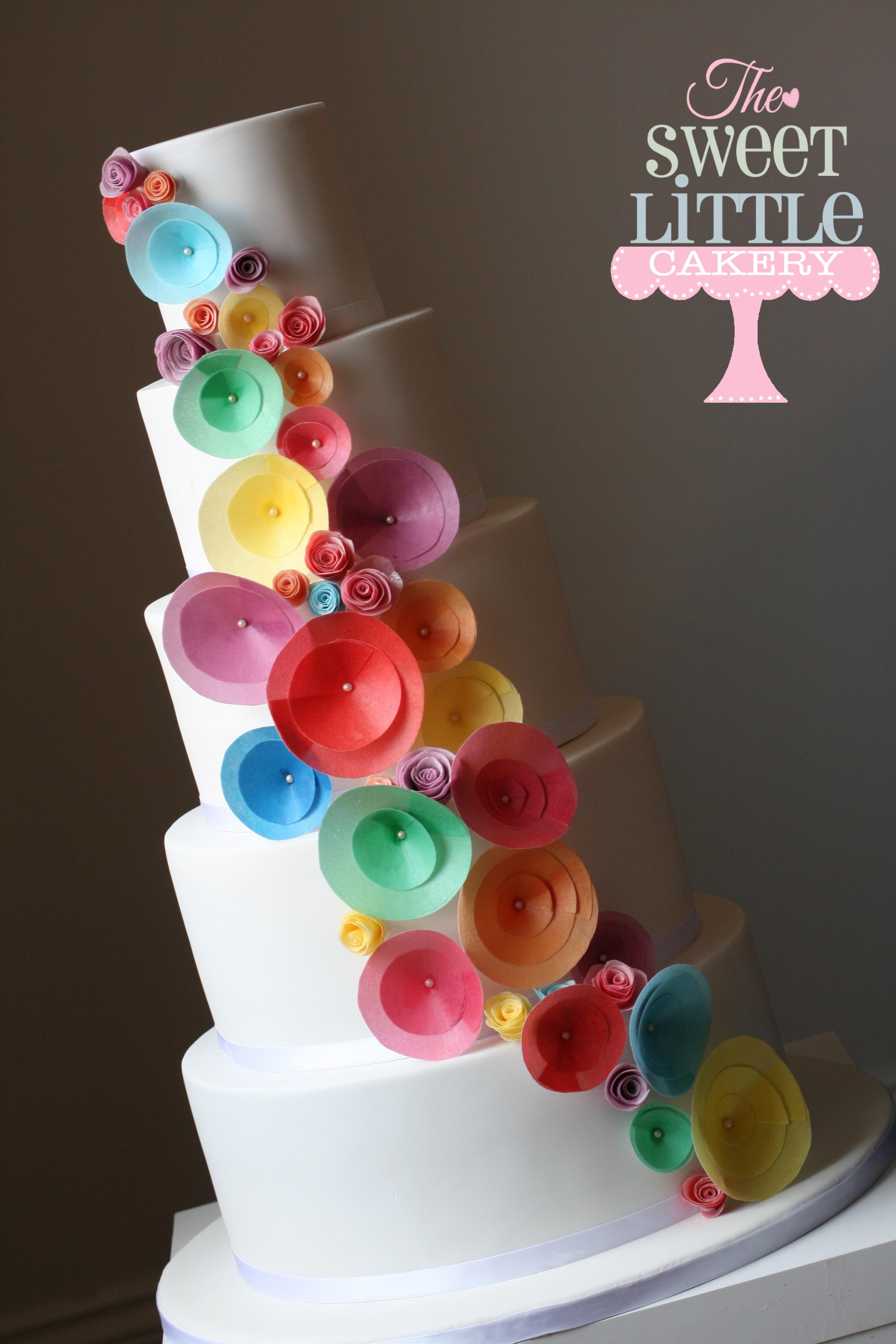 Rainbow Quinceanera Cakes