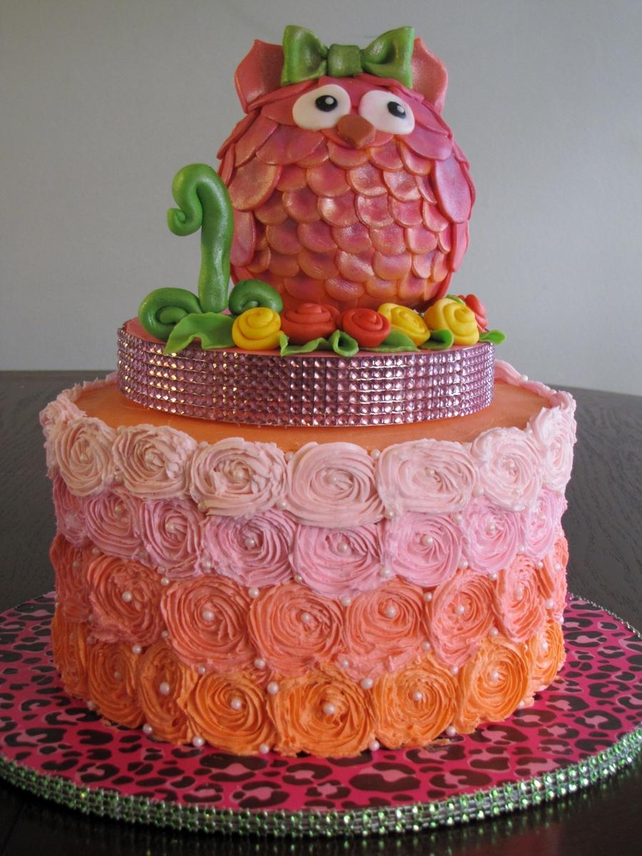 Owl Cake CakeCentralcom