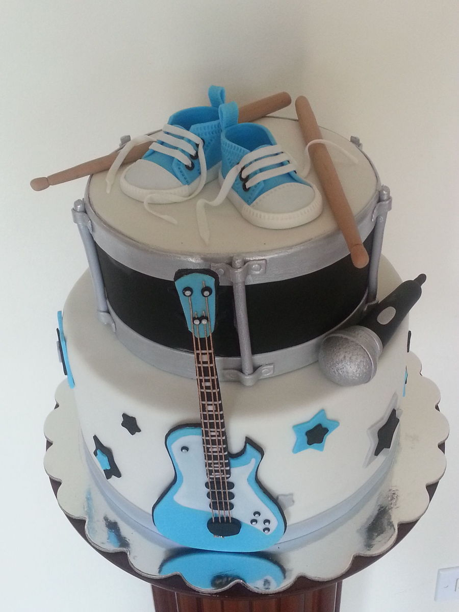 Rock Star Baby Shower Cake Cakecentral Com