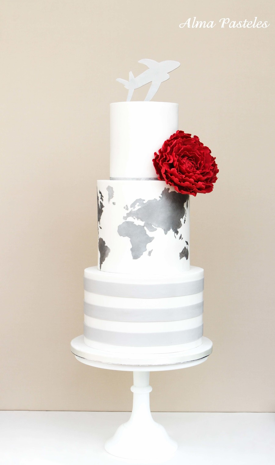 Travel Themed Wedding Cake on Cake Central