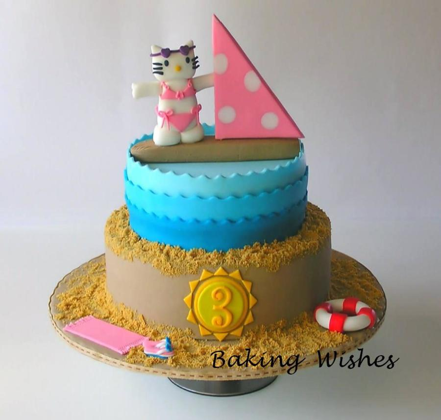 Made For A Little Girls Birthday Every Part Is Made With Fondant Thank You For Taking A Look on Cake Central