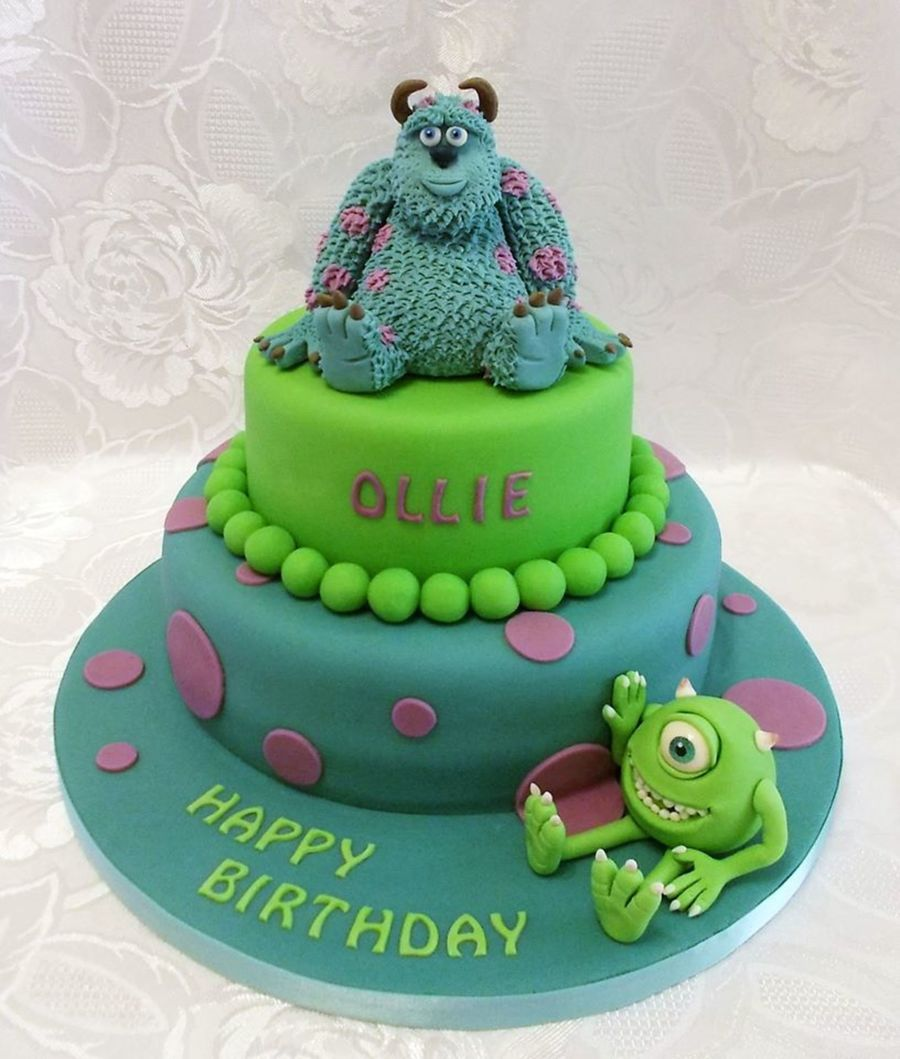 Monsters Inc Sulley And Mike Two Tiered Birthday Cake Models Totally
