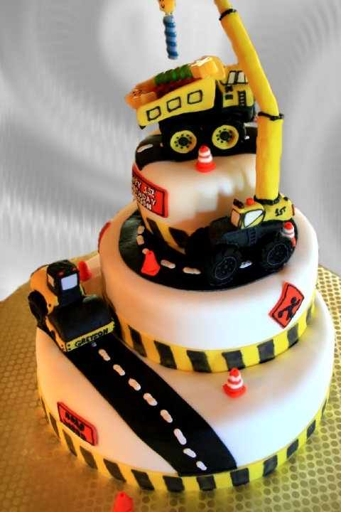 Construction Themed Birthday Cake Cakecentral