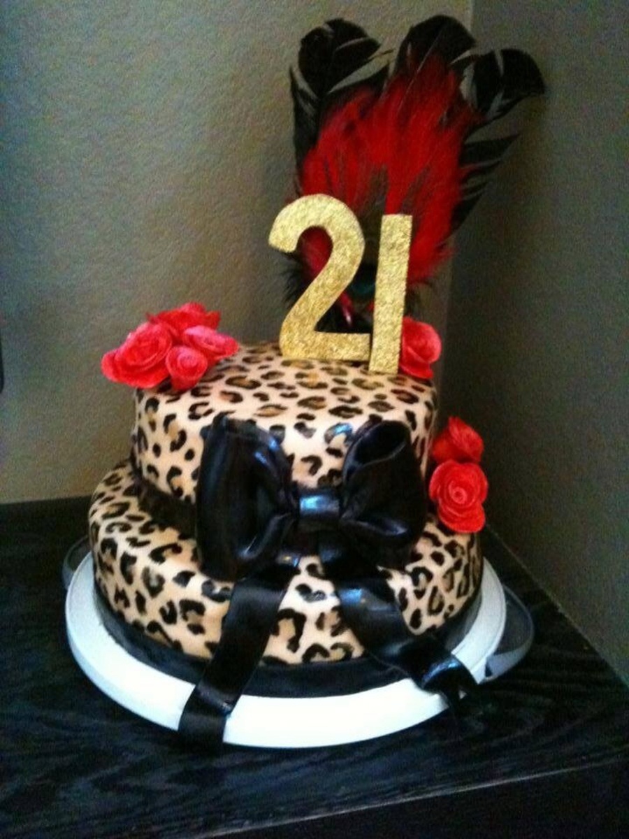 Birthday Cake Pictures To Print : Leopard Print 21St Birthday Cake - CakeCentral.com