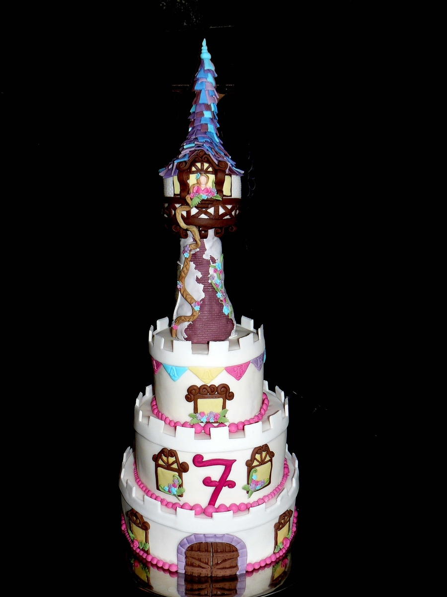 Rapunzel Tower Cake on Cake Central