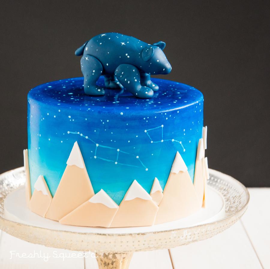 Birthday Cake Midnight Sky