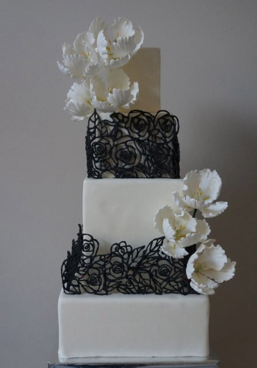 rectangle shaped wedding cake square wedding cakes cakecentral 19054