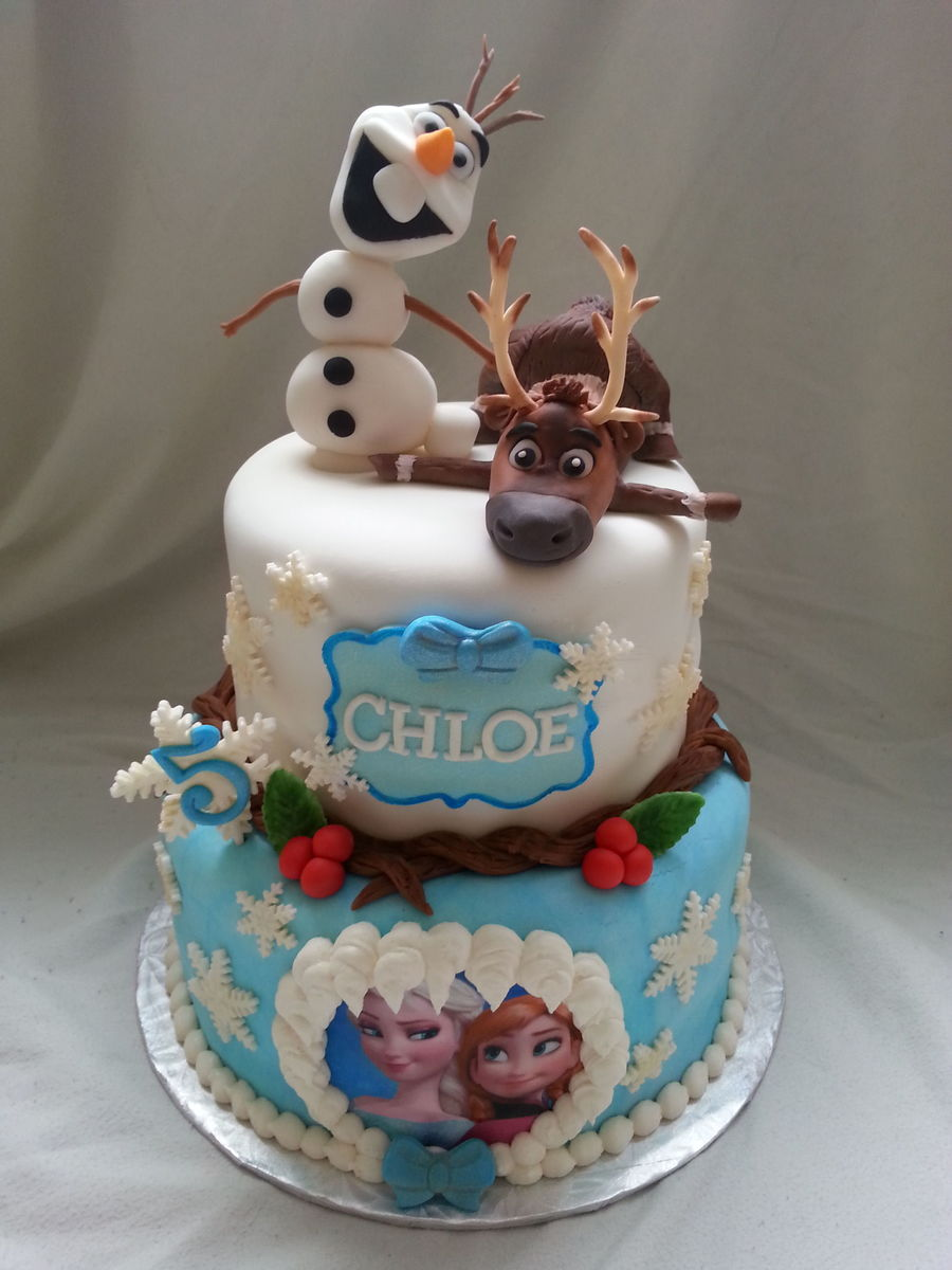 how to make a frozen themed birthday cake