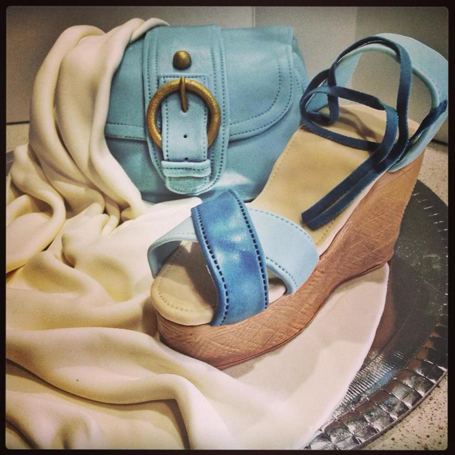 Handbag And Shoe Cake on Cake Central