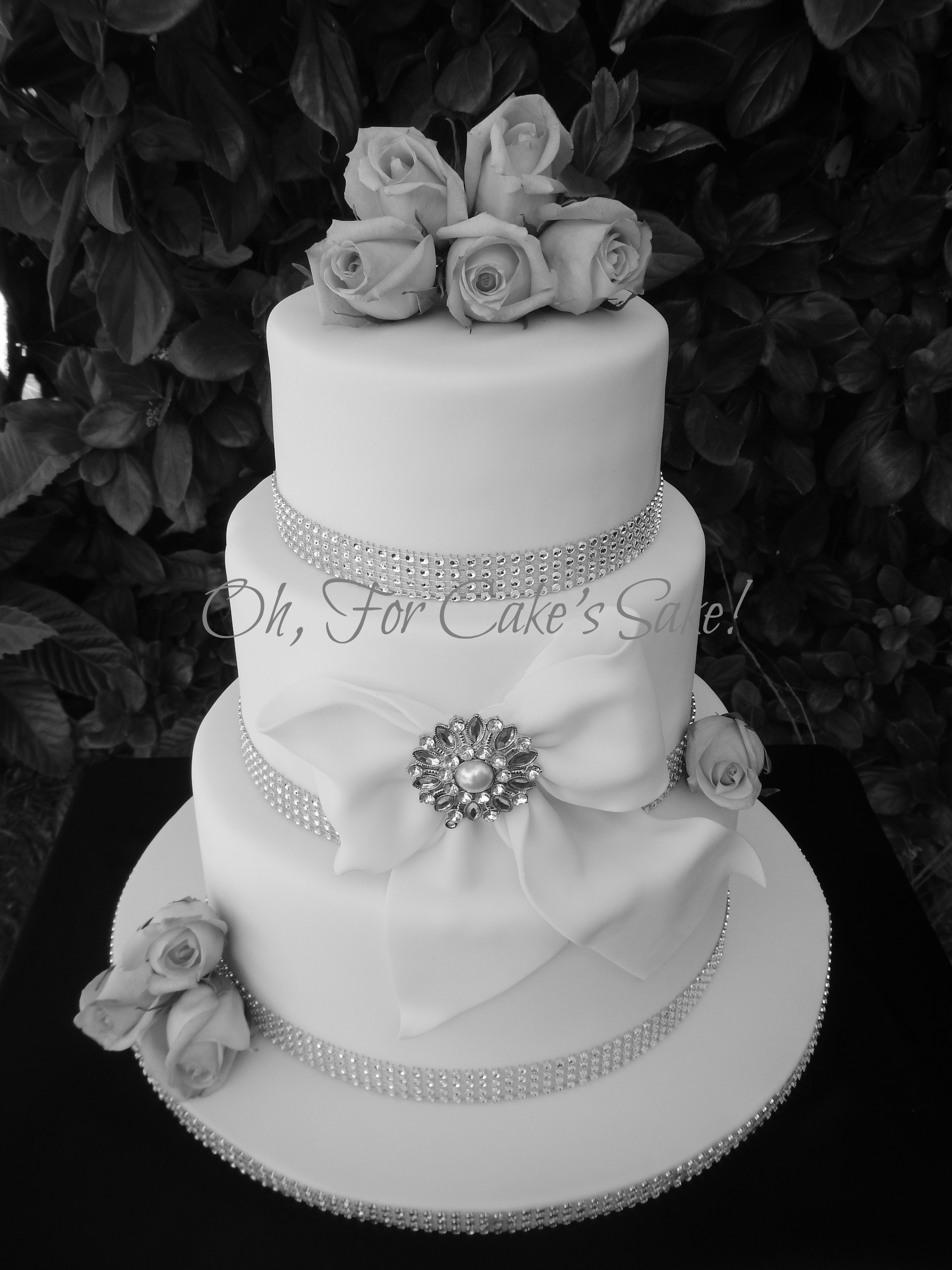 Romantic New Years Wedding Cake Cakecentral Com