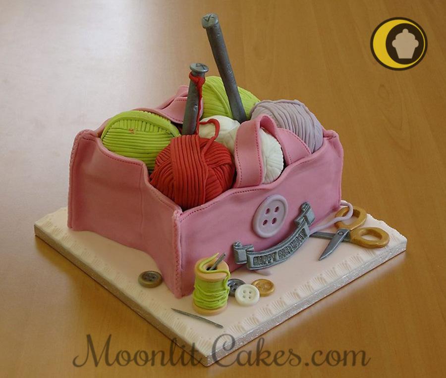 Knitting Bag Birthday Cake Made For My Boyfriends Mum All Items Were