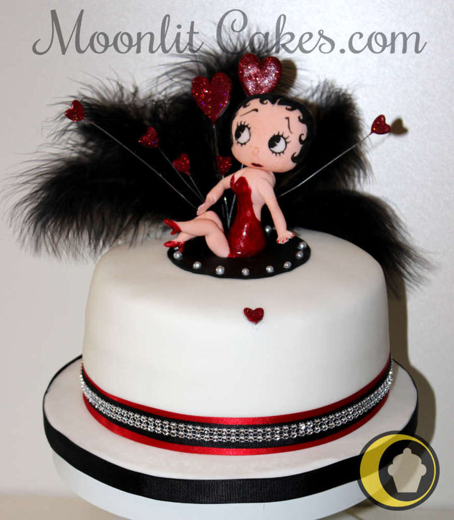 My Betty Boop Birthday Cake For My Friend Consisted Of A Vanilla ...