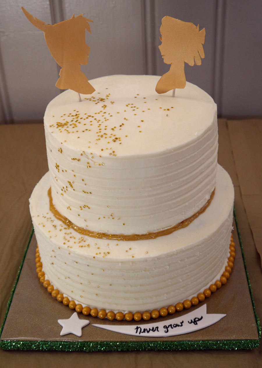 peter pan baby shower cake