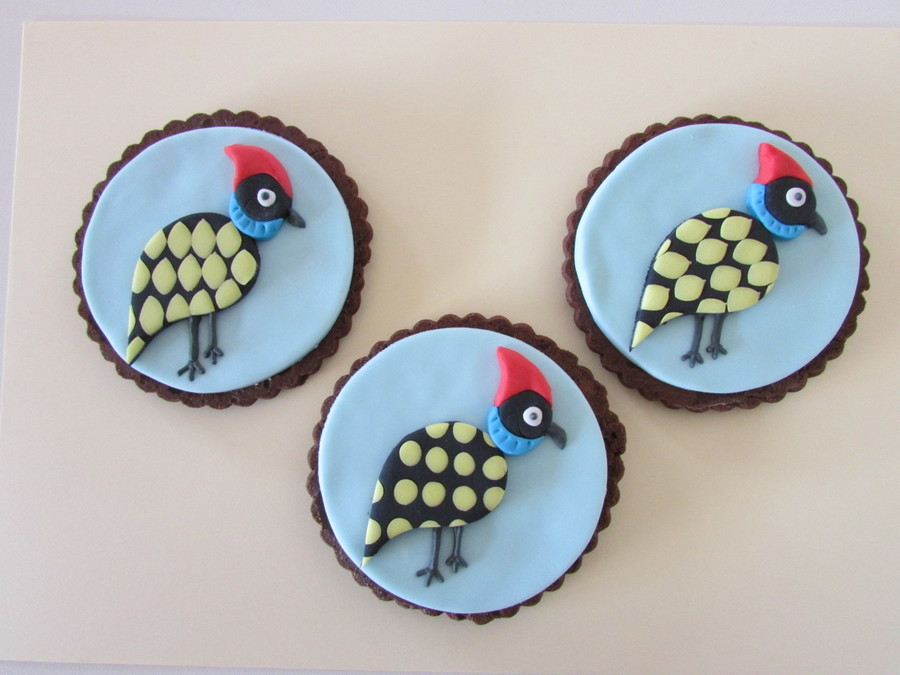 A Kooky Family Of Guinea Fowls.... on Cake Central
