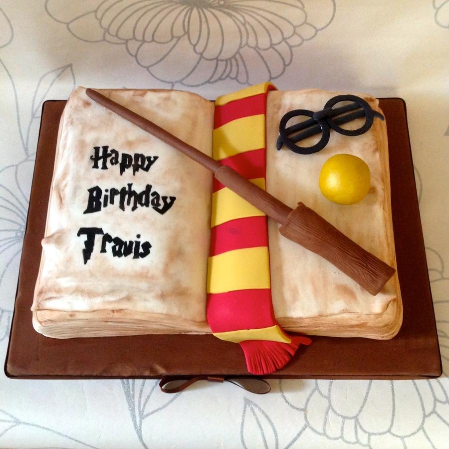 Harry Potter Spell Book Cake CakeCentralcom