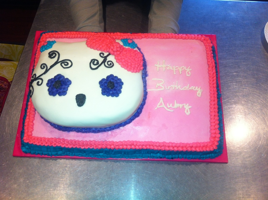 Hello Kittyday Of The Dead Cake For A 3 Year Olds Birthday ...