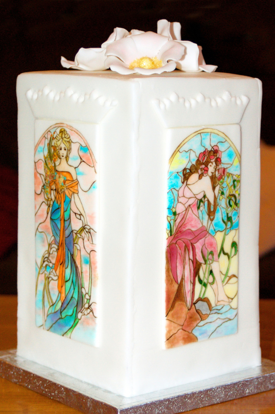 Mucha Stained Glass Cake Cakecentral Com