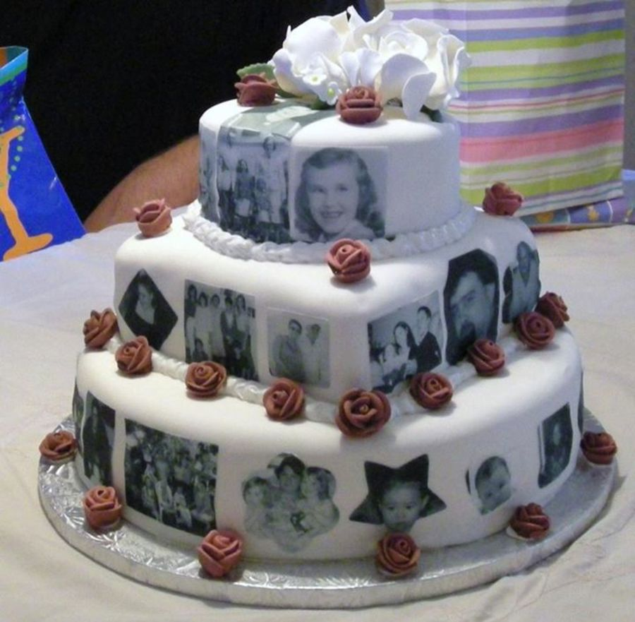 Photos Printed On Icing Sheets Then Applied To Cake ...
