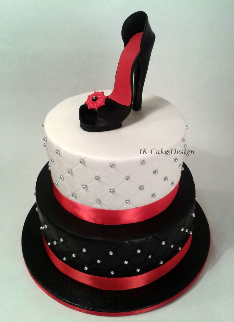 Black And White Red Bottom Heel Cakes