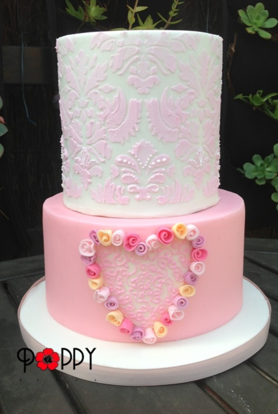 Pink And White Feminine Birthday Cake Cakecentral