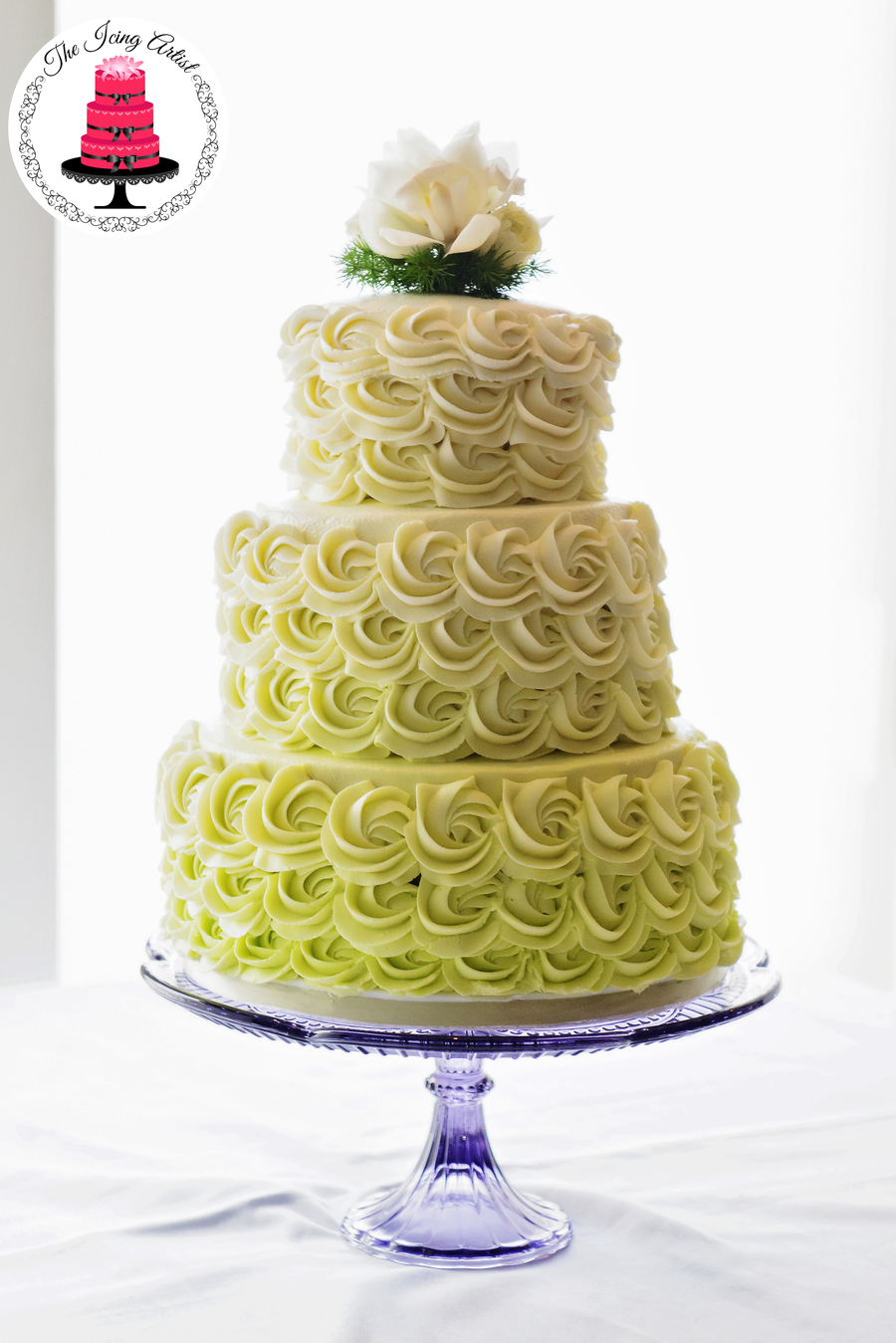 3 tiered wedding cake tutorial three tier rosette wedding cake cakecentral 10231