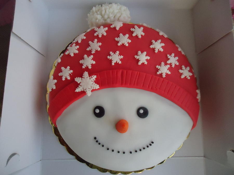 Snowman cake for How to make a snowman