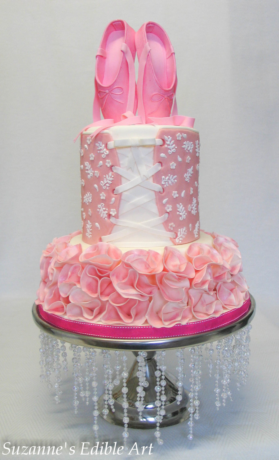 Every Little Ballerinas Dream Cake Sugar Shoes Sparkly