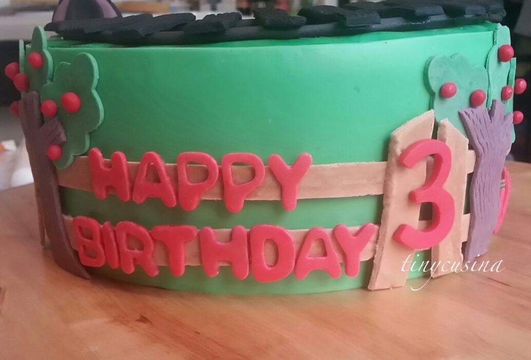 Cake With A Train Tracks Used The Fondant Wrap Around Technique Instead Of Draping It Was Easier For Me This Is I Had Fun Doing