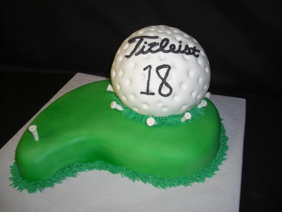 Grooms Titleist Golf Ball Cake on Cake Central