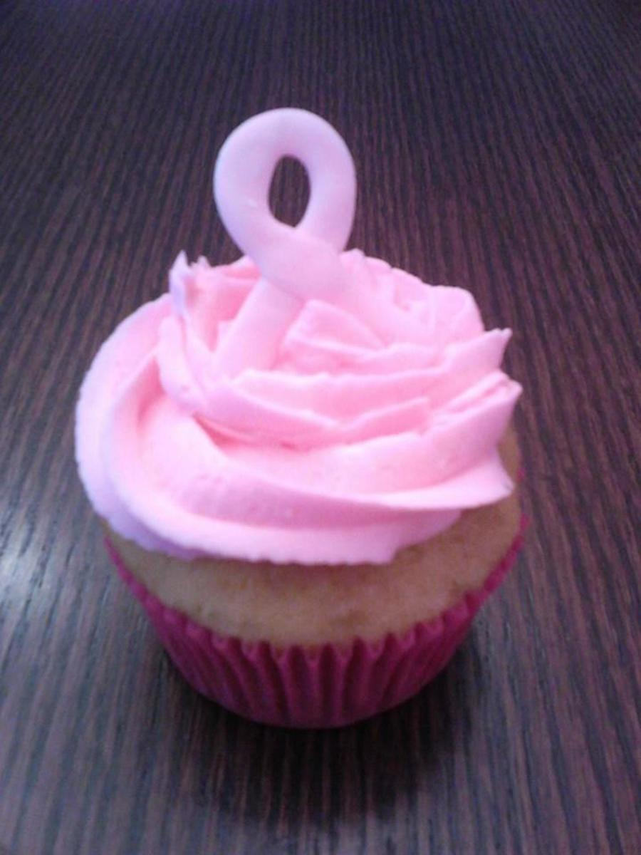 Breast Cancer Awareness Ribbon Cupcake on Cake Central