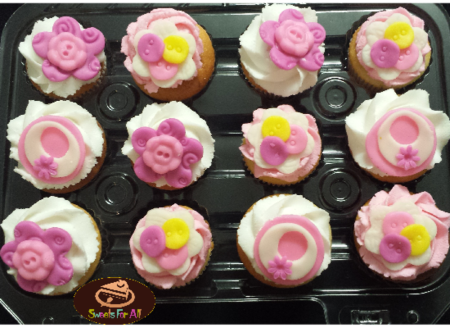 Baby Shower Girl Cupcakes Cakecentral
