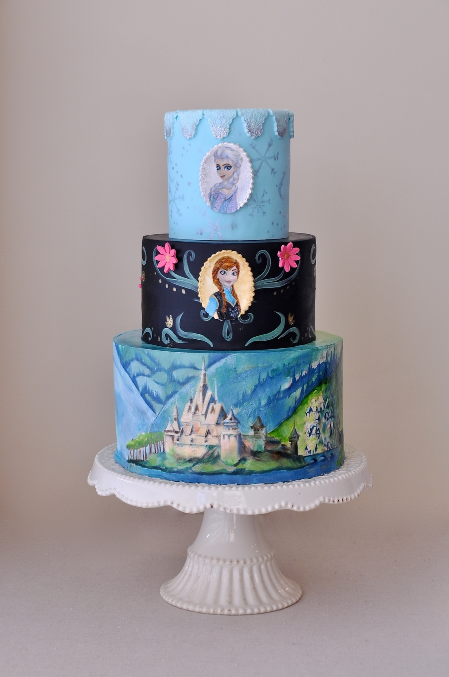 Frozen Themed Cake Designed By Ashley Steinhauer Blush