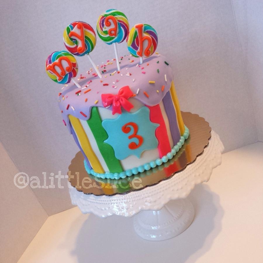 Rainbow Lollipop Cake Cakecentral Com
