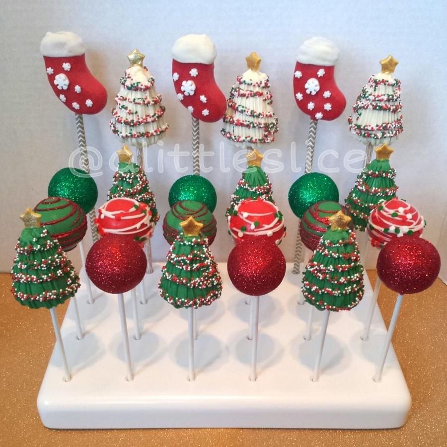 Christmas Cake Pops.Christmas Cake Pops Cakecentral Com