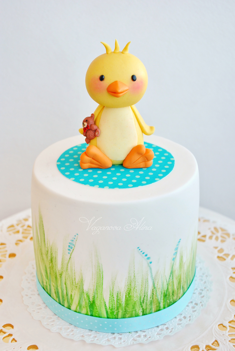Ducks Birthday Cake Design