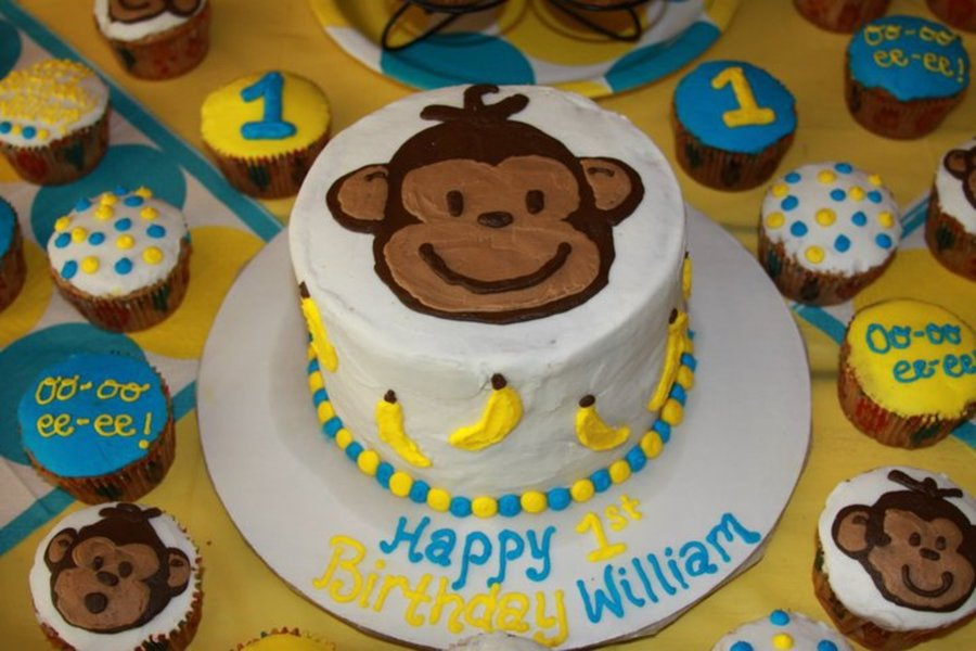 Mod Monkey Birthday on Cake Central
