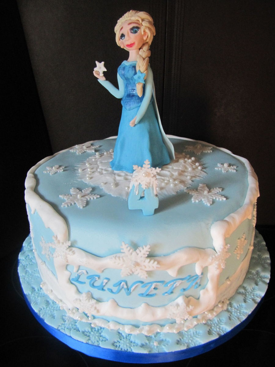 Elsa Frozen Themed Birthday Cake Cakecentral