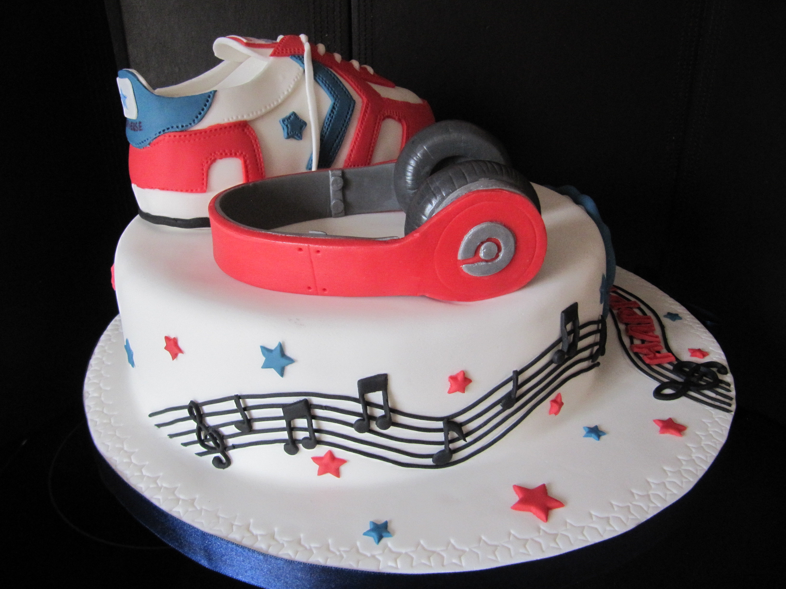 This Cake Was Made For A Girl Who Loves Sport Shoes And Music Birthday Cakes